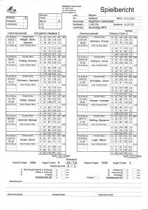 Spielbericht AG Heideck2 vs V2